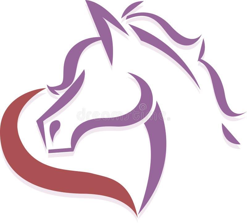 Concetto di logo del cavallo illustrazione vettoriale