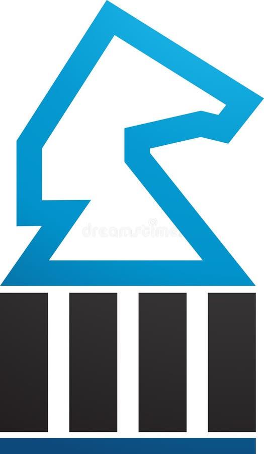 Concetto di logo del cavallo per finanza e contabilità illustrazione vettoriale