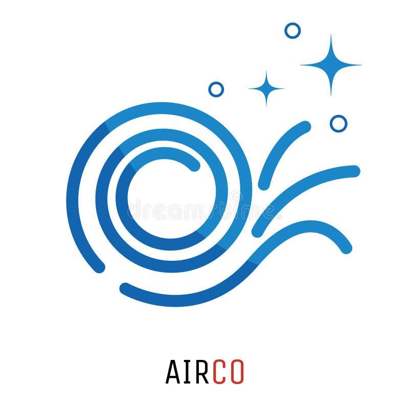 Concetto di logo del condizionamento d'aria illustrazione vettoriale