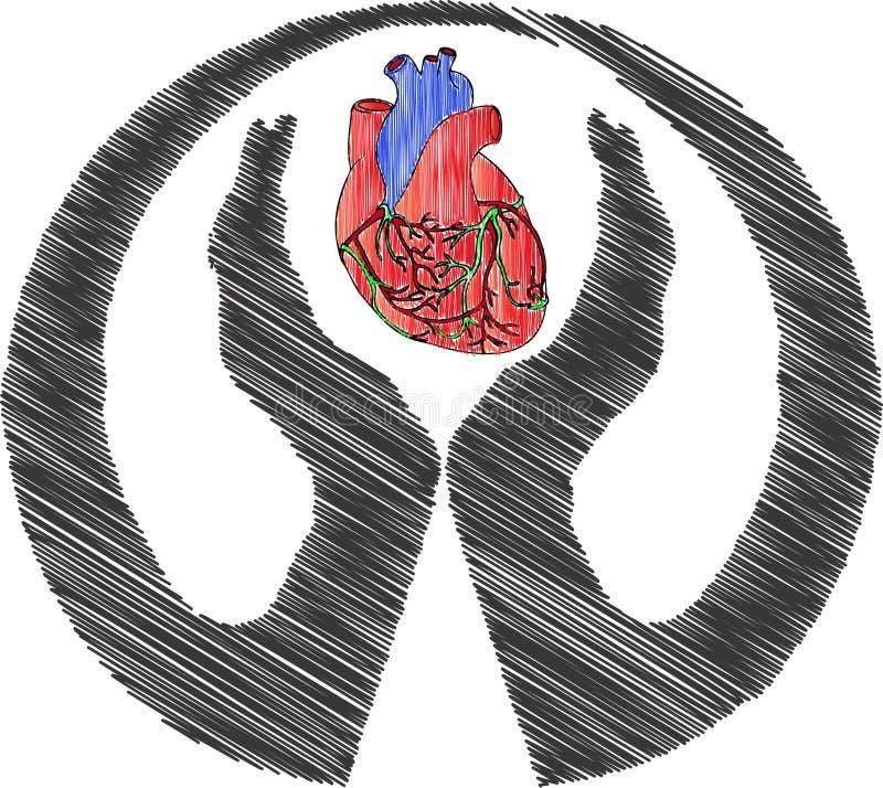 Concetto di logo del cuore royalty illustrazione gratis