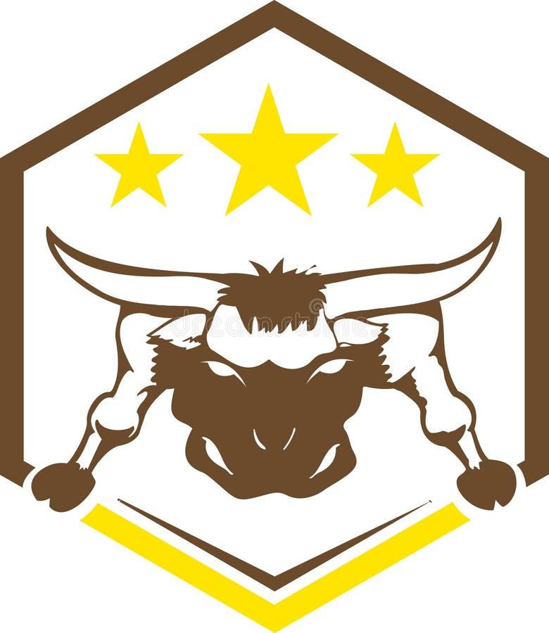 Concetto di logo del toro illustrazione vettoriale
