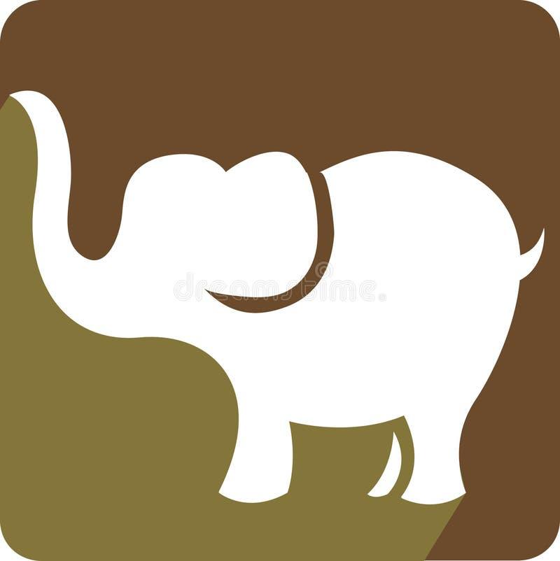 Concetto di logo dell'elefante royalty illustrazione gratis