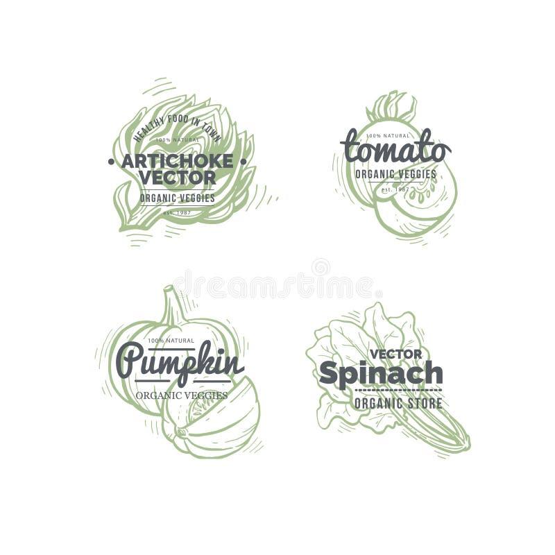 Concetto di logo delle verdure royalty illustrazione gratis