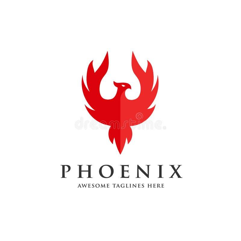 Concetto di lusso di logo di Phoenix royalty illustrazione gratis