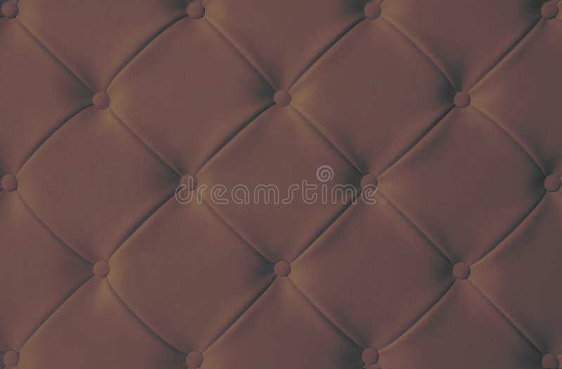 Concetto di lusso scuro FO del fondo di struttura del sofà della tappezzeria di Brown immagini stock