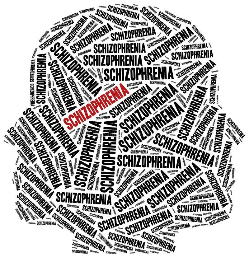Concetto di malattia mentale o di schizofrenia illustrazione vettoriale