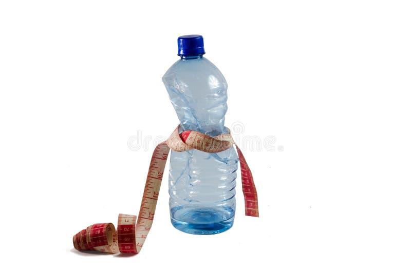 Concetto di mancanza di acqua, su un fondo isolato bianco fotografie stock