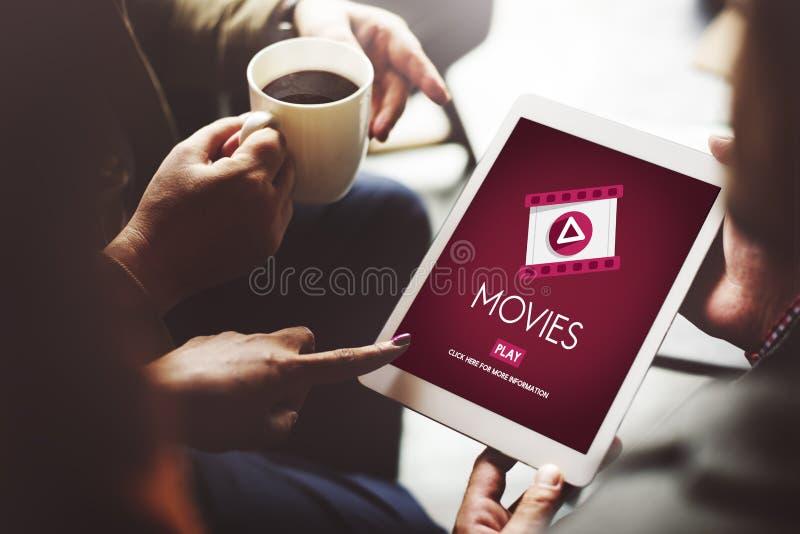 Concetto di manifestazione del cinema del pubblico di opera di film di film fotografie stock