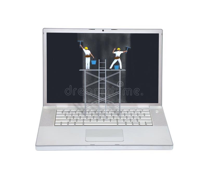 Concetto di manutenzione del computer portatile immagine stock libera da diritti