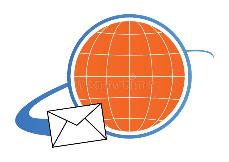 Concetto di marchio della posta - vettore illustrazione di stock