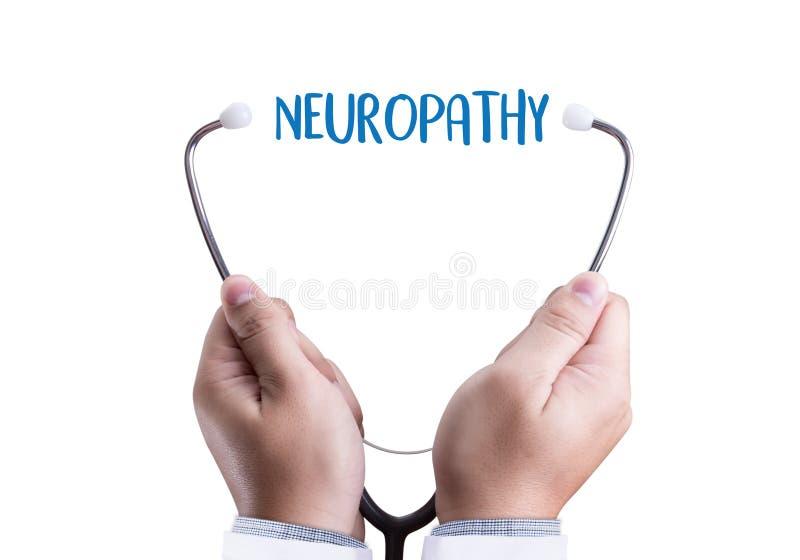 Concetto di medico di NEUROPATIA, espressione di neuropatia in Anam immagini stock libere da diritti