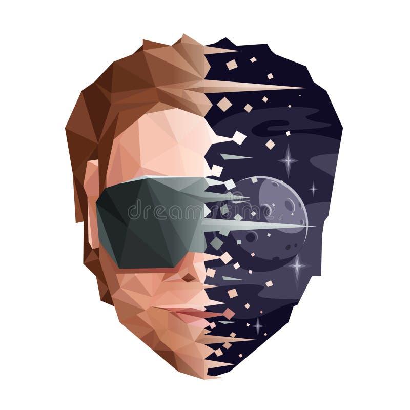 Concetto di mente di Digital di realtà virtuale royalty illustrazione gratis