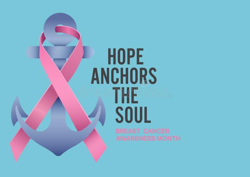 Concetto di mese di consapevolezza del cancro al seno illustrazione di stock