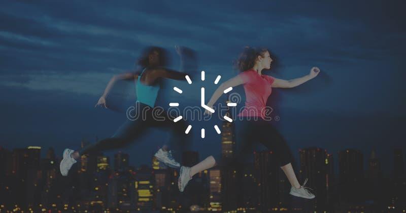 Concetto di minuto di ora di Orgarnization del temporizzatore di tempo di orologio immagini stock libere da diritti