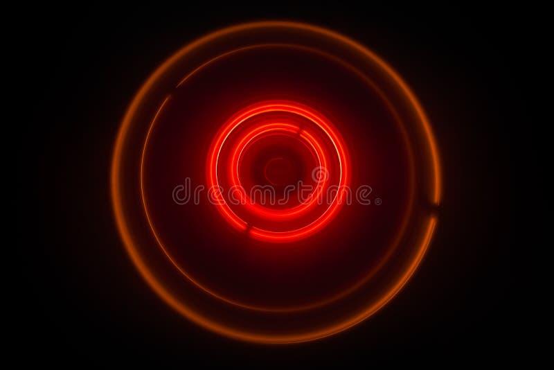 Concetto di musica Vinile d'ardore di Freezelight su fondo scuro o piattaforma girevole che gioca vinile con le linee astratte d' immagine stock libera da diritti