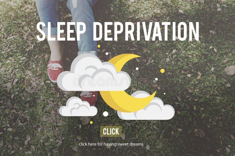 Concetto di narcolessia di problema di insonnia di privazione di sonno immagini stock