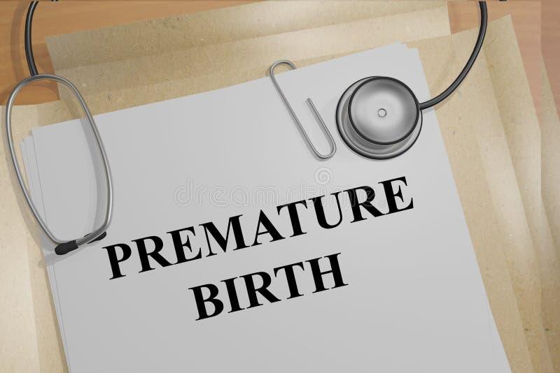 Concetto di nascita prematura fotografia stock