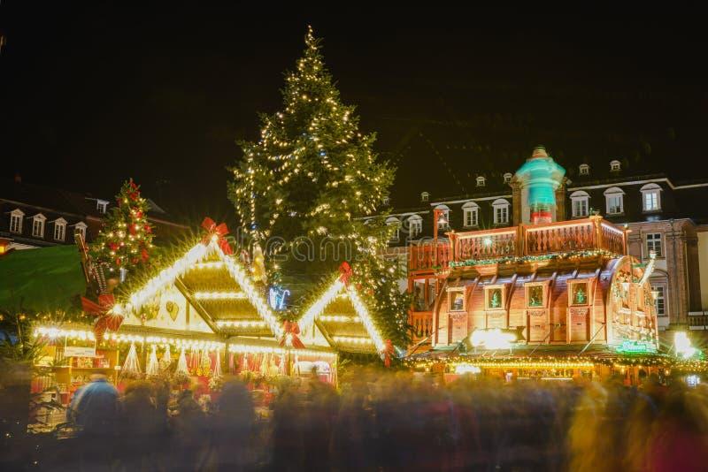 Concetto di Natale nella vecchia città di Heidelberg, Heidelberg, Baden-Wurttemberg, Germania, Europa fotografia stock