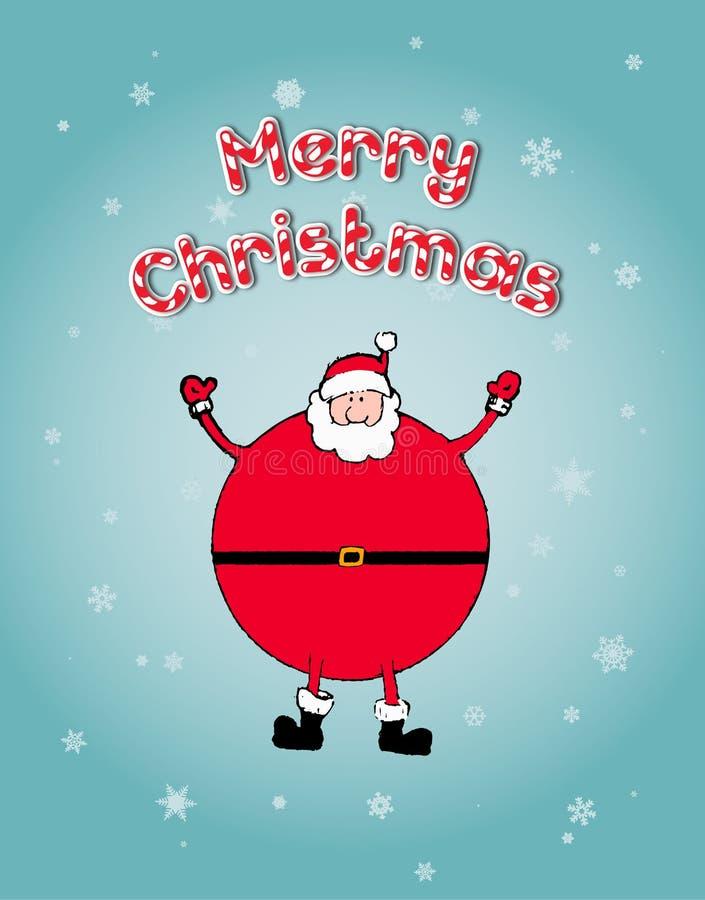 Concetto di Natale: Santa arma felicemente spalancato fotografia stock