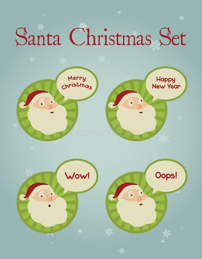Concetto di Natale: Santa Facial Expressions fotografia stock