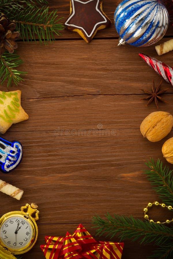 Concetto di Natale su legno immagine stock
