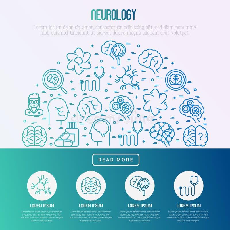 Concetto di neurologia nel semicerchio royalty illustrazione gratis