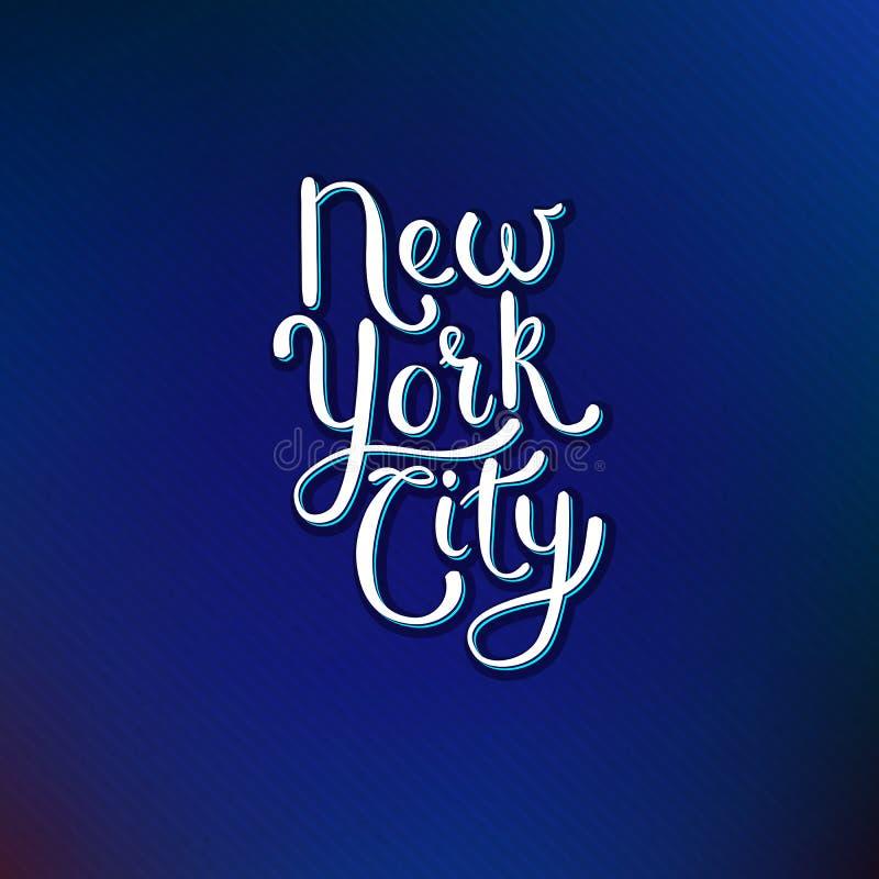 Concetto di New York su Violet Background blu royalty illustrazione gratis