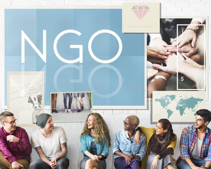Concetto di NGO Contribution Corporate Foundation Nonprofit fotografia stock