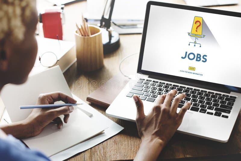 Concetto di noleggio di noleggio di occupazione di carriera di lavori immagini stock libere da diritti