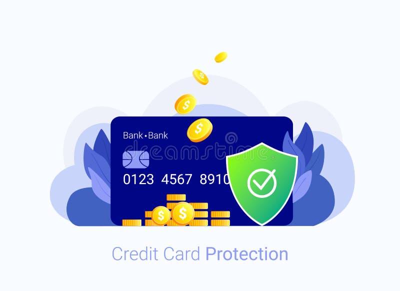 Concetto di obbligazione della carta di credito illustrazione vettoriale