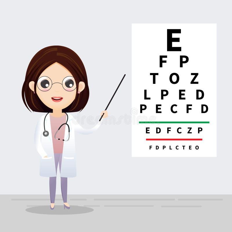 Concetto di oftalmologia illustrazione di stock