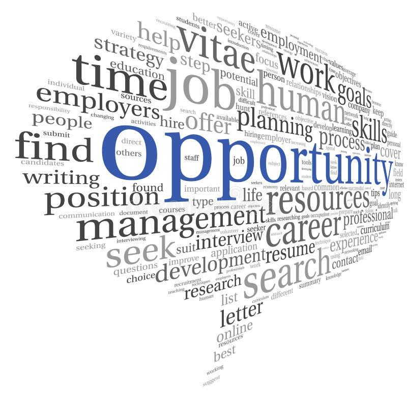 Concetto di opportunità in nuvola di parola illustrazione di stock
