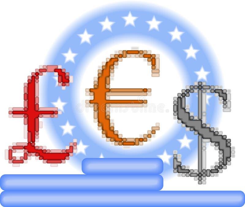 Concetto di opposizione di valuta royalty illustrazione gratis