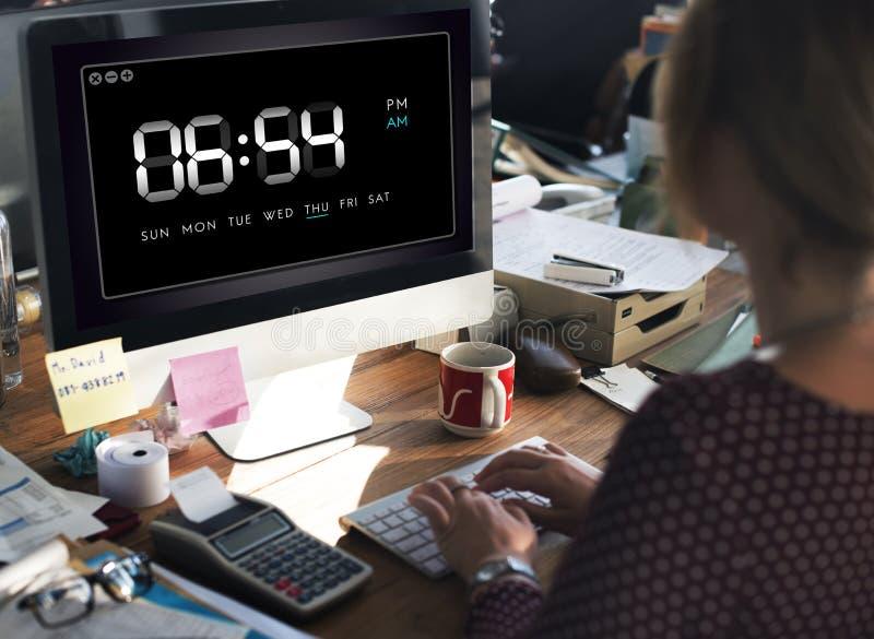 Concetto di ora di svago di tempo di durata dell'orologio immagine stock
