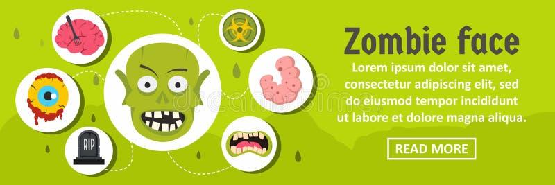 Concetto di orizzontale dell'insegna del fronte dello zombie royalty illustrazione gratis