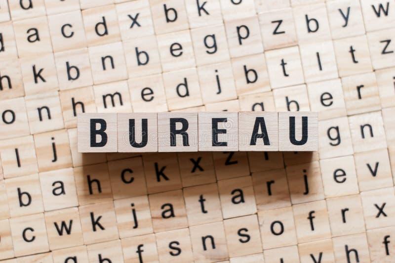 Concetto di parola di Burreau fotografia stock