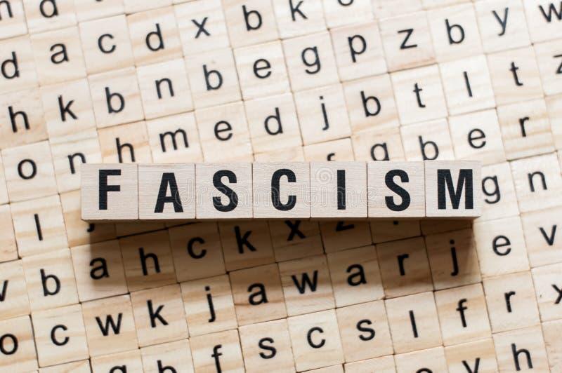 Concetto di parola di fascismo fotografie stock libere da diritti