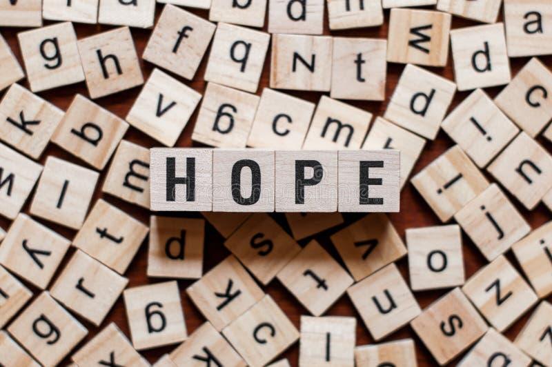 Concetto di parola di speranza fotografia stock