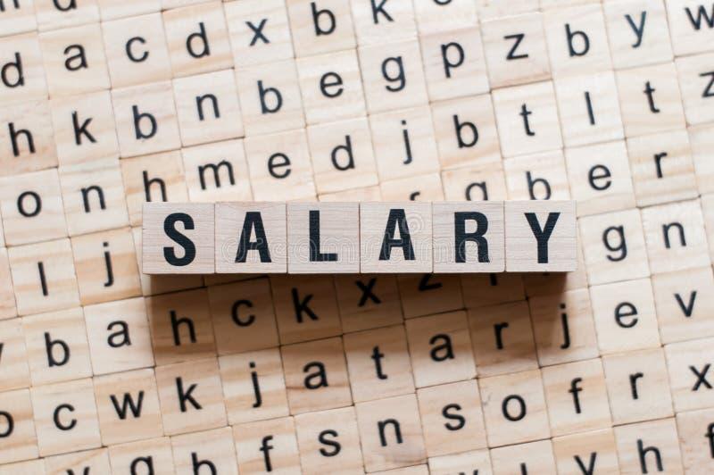 Concetto di parola di stipendio immagini stock