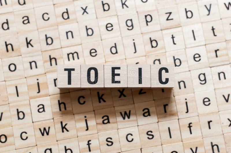 Concetto di parola di Toeic fotografia stock