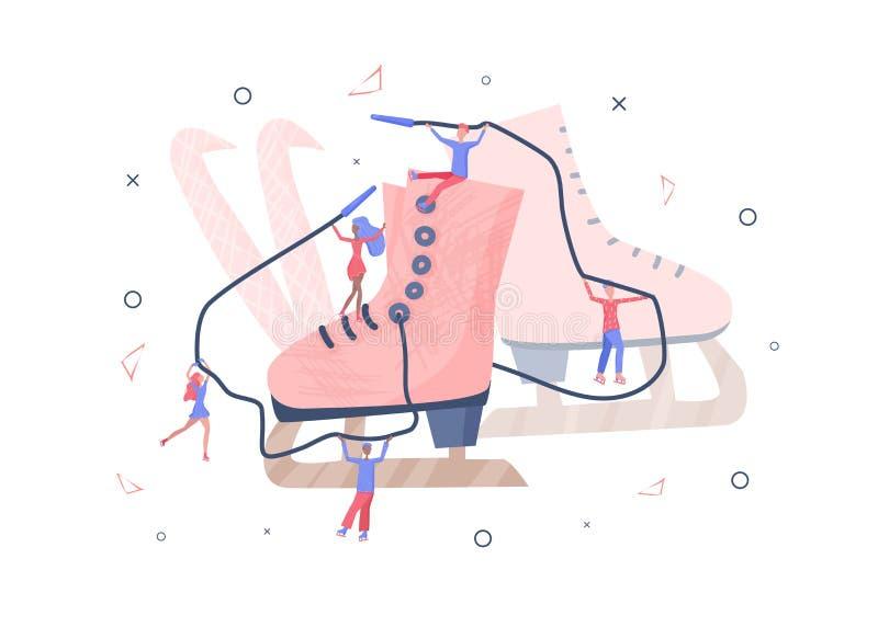 Concetto di pattinaggio artistico Illustrazione di vettore illustrazione di stock