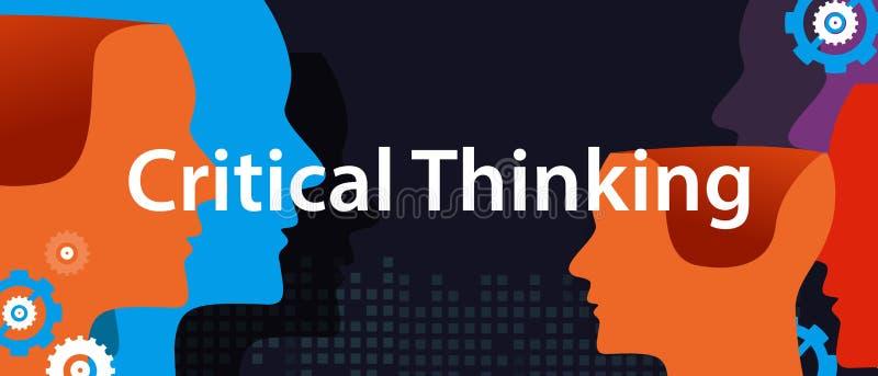 Concetto di pensiero critico di soluzione dei problemi creativa della tempesta di cervello della testa della soluzione illustrazione vettoriale