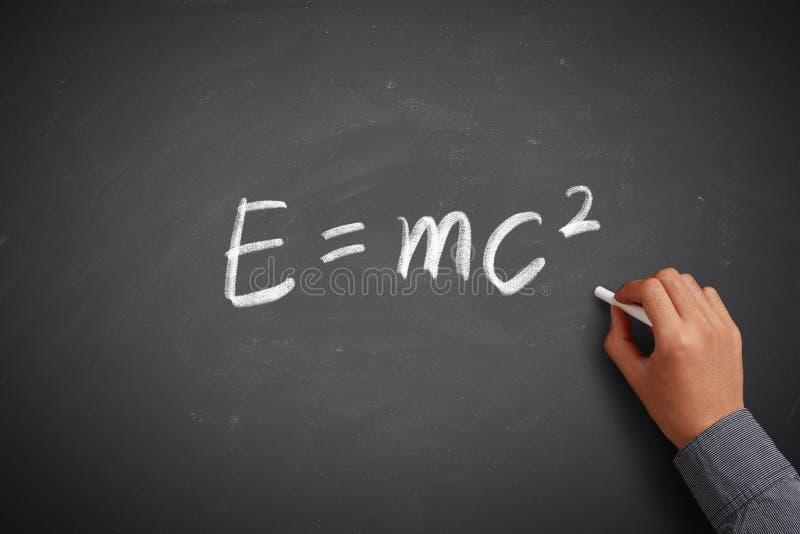 Concetto di per la matematica E=mc2 fotografia stock