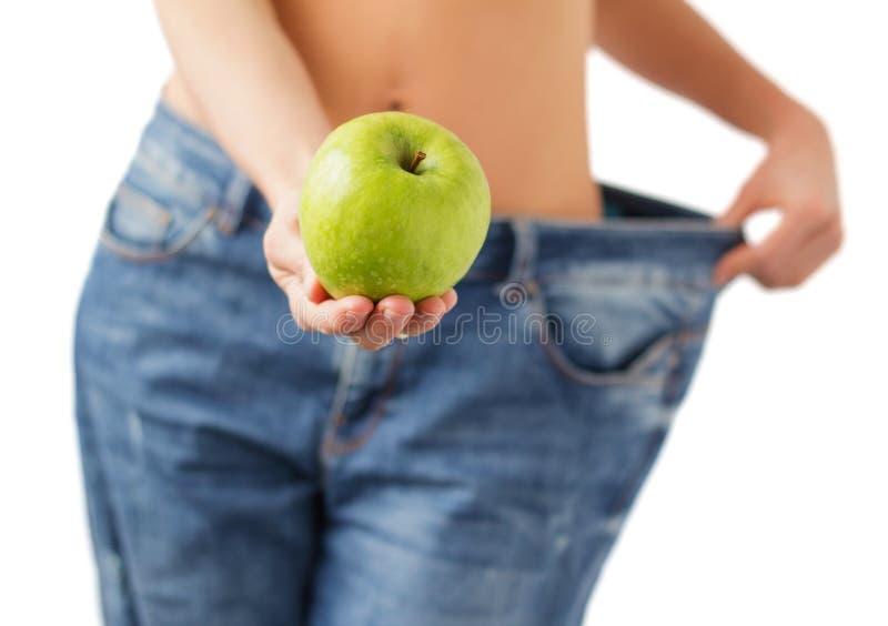 Concetto di perdita di peso e di dieta sana immagini stock