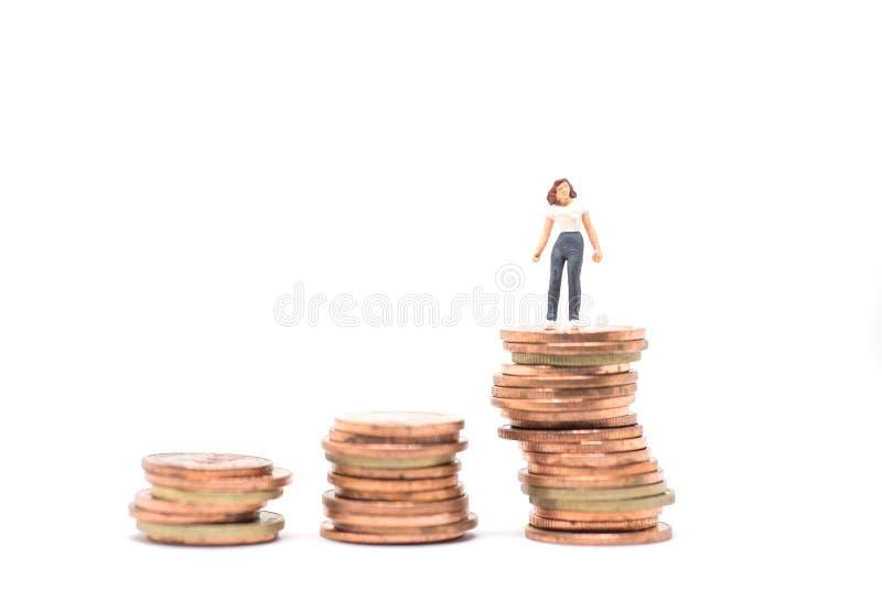 Concetto di piallatura finanziaria della donna immagine stock