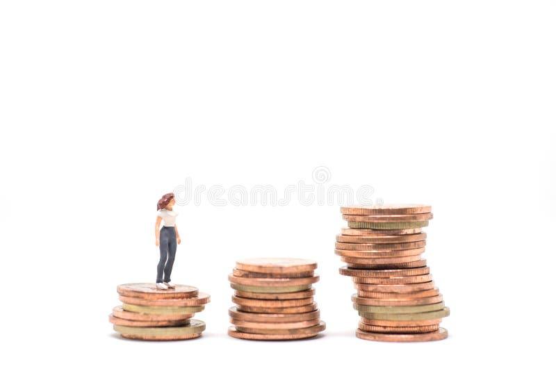 Concetto di piallatura finanziaria della donna immagini stock