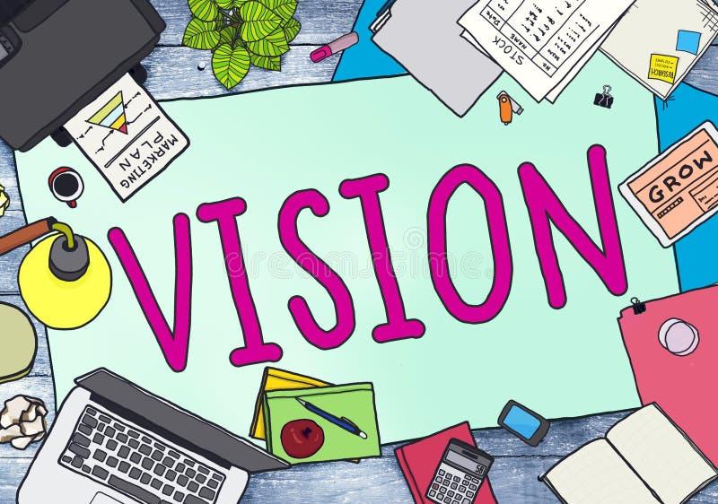 Concetto di pianificazione di ispirazione di missione di motivazione di visione royalty illustrazione gratis