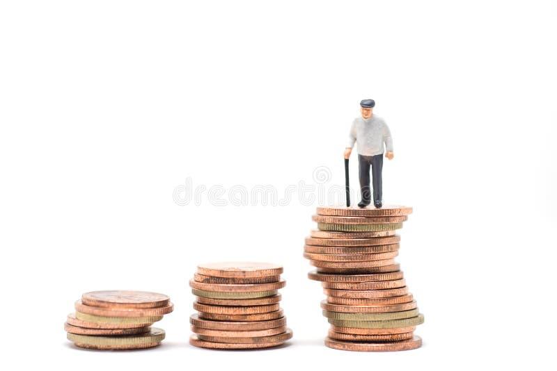 Concetto di pianificazione di pensionamento fotografia stock libera da diritti
