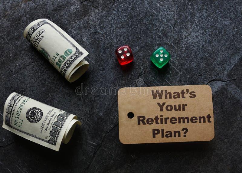 Concetto di pianificazione di pensionamento fotografia stock