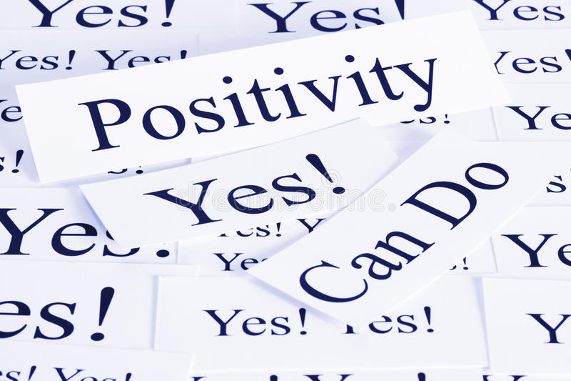 Concetto di positività fotografie stock